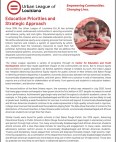 Education Priorities and Strategic Approach 2020